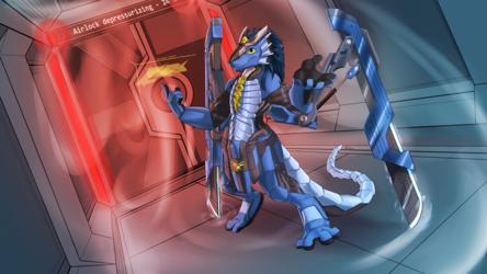 The Shipwright Cyborg Dragon (Adalore)