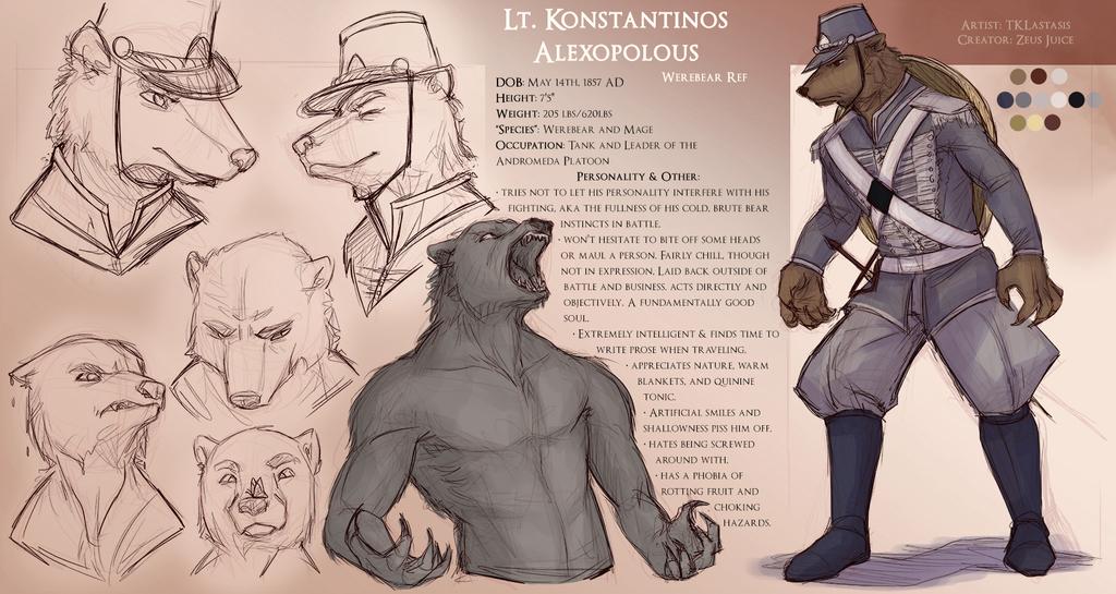 Commission - Konta (Werebear) Refsheet