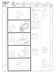 ASK A CAT animation storyboards