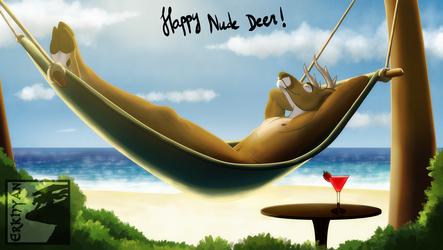 Happy Nude Deer!