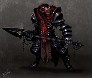 Demon Dog in Demon Armor