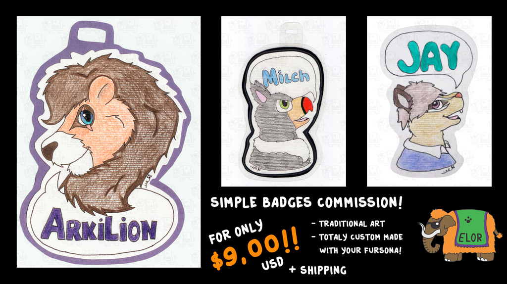 Simple traditional badges only $ 9 + Shipping !!