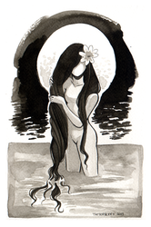 Moonlit Bather