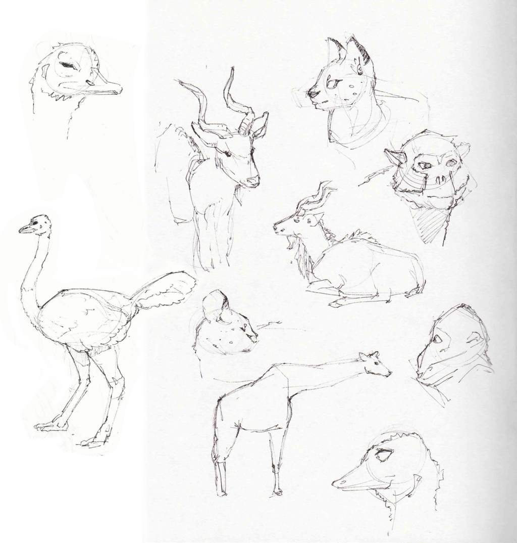 Most recent image: zoo sketches