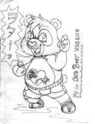 Po the Care Bear Warrior
