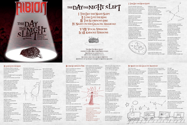The Day the Night Slept - Booklet