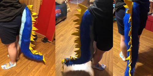 Blue Dragon Tail Commission