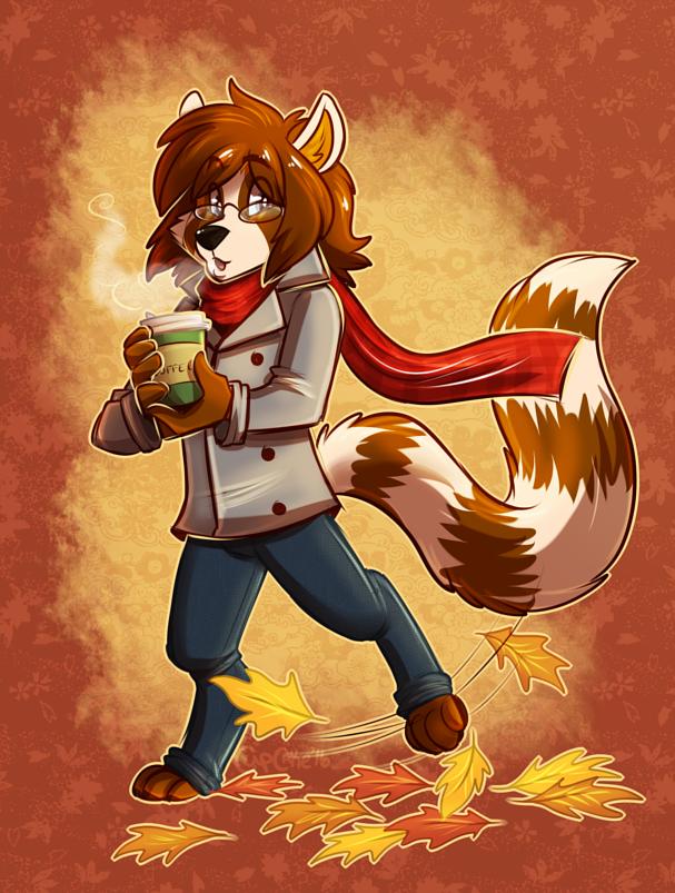[commission] Autumn Walk