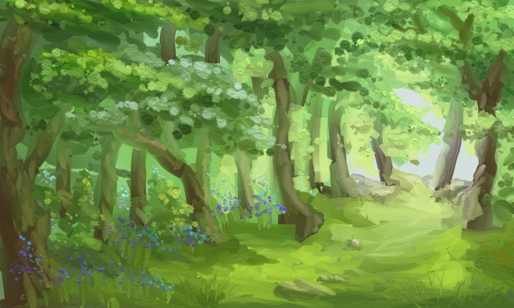 Personal: Sinistral Landscape 1 - Bluebell Woods