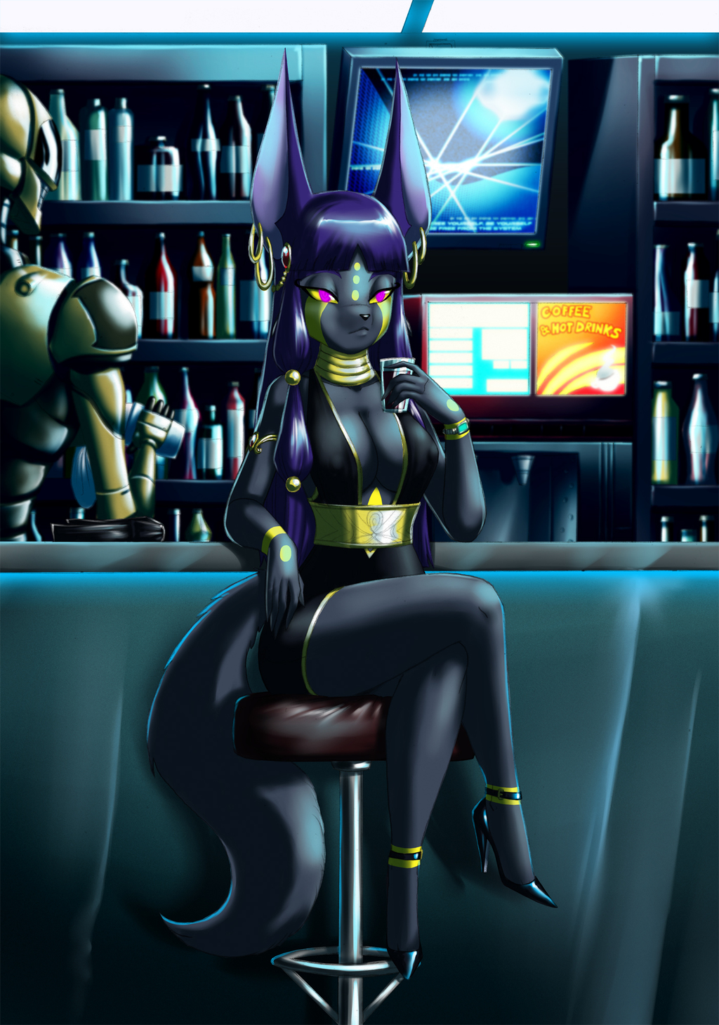A jackal at the night club .::gift for Teckworks::.