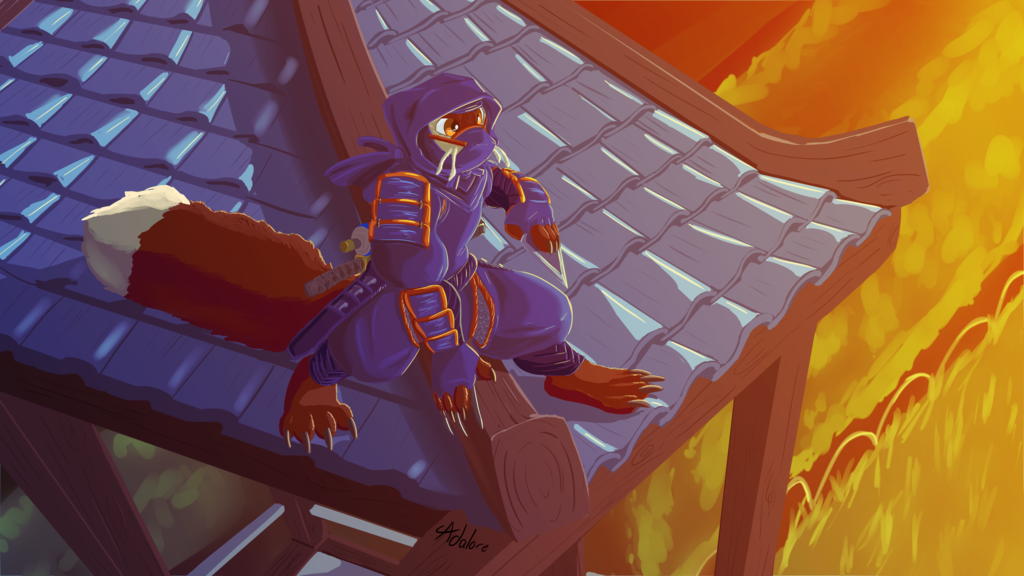 Commission - FuryFizz - Rooftop Ninja