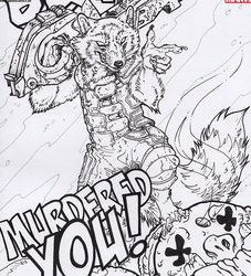 Rocket Raccoon sketch Cover by BHO