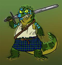 Gator in Kilt