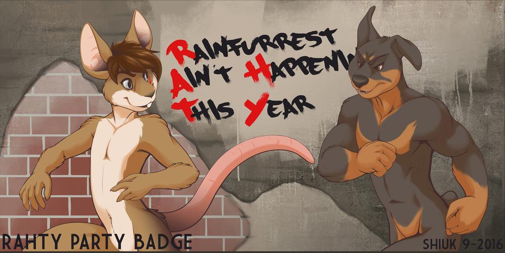 R.A.H.T.Y. Party Badge