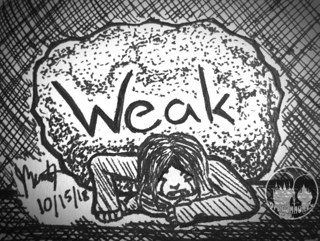 "Inktober 2018 - Day 15 ""Weak"""