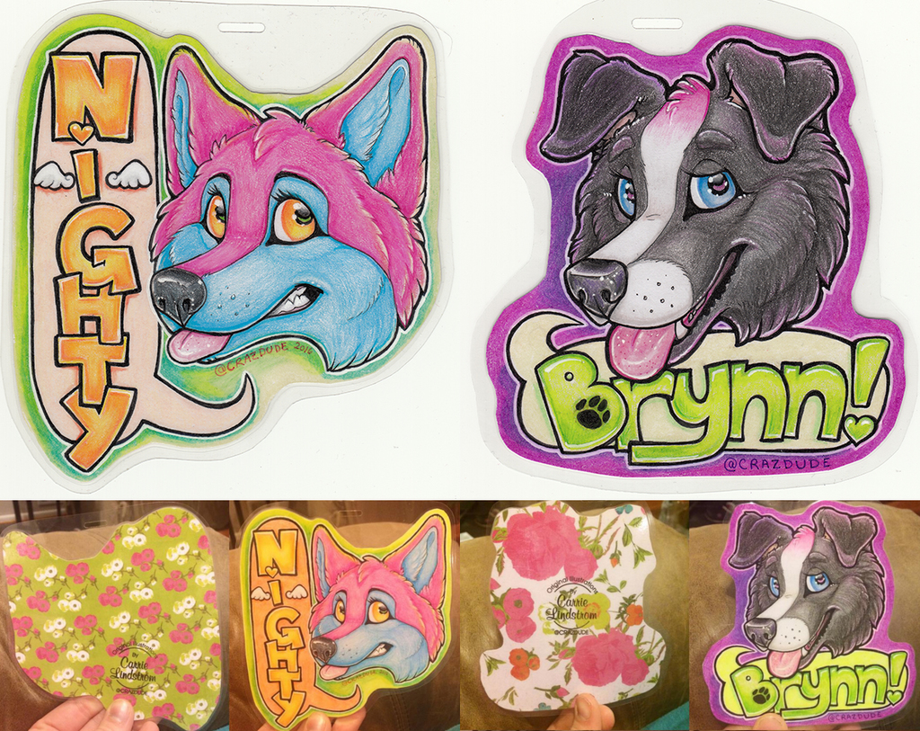 Brynn and Nighty ANE Badges 2016