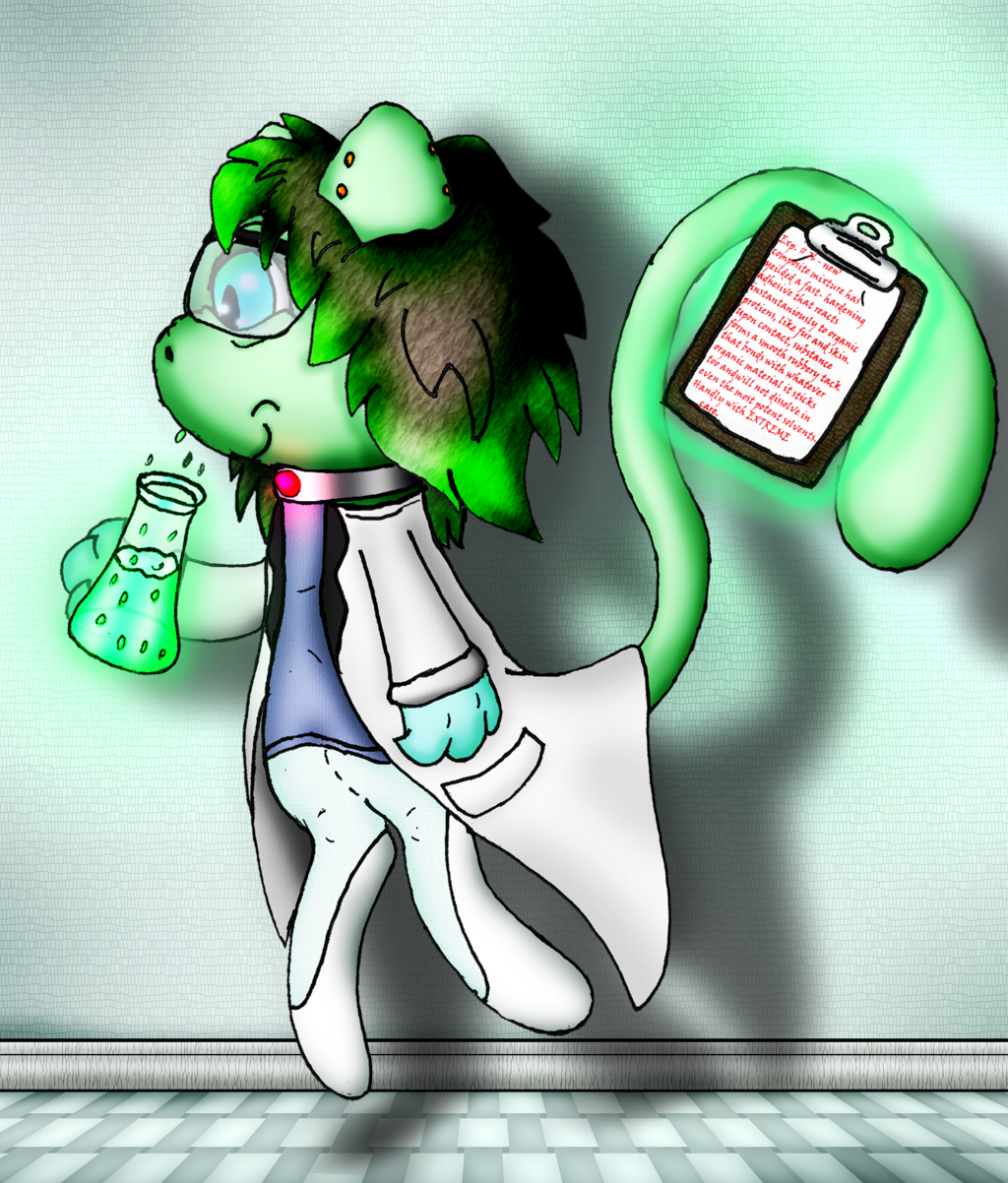 Dr. Yvonna Alumina the Mew Scientist's Latest Experiment (Commission)