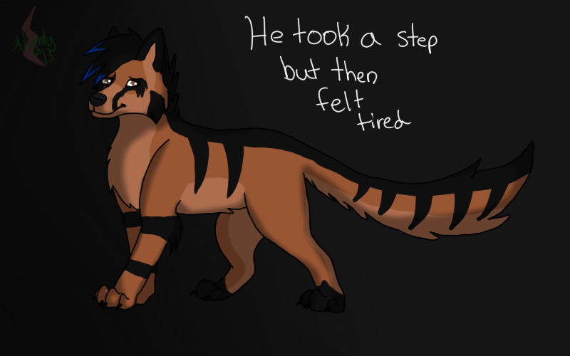 He Took A Step But Then Felt Tired