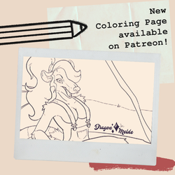 November Coloring Page is up on Patreon!