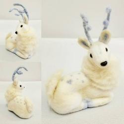 Needle Felting - White Deer