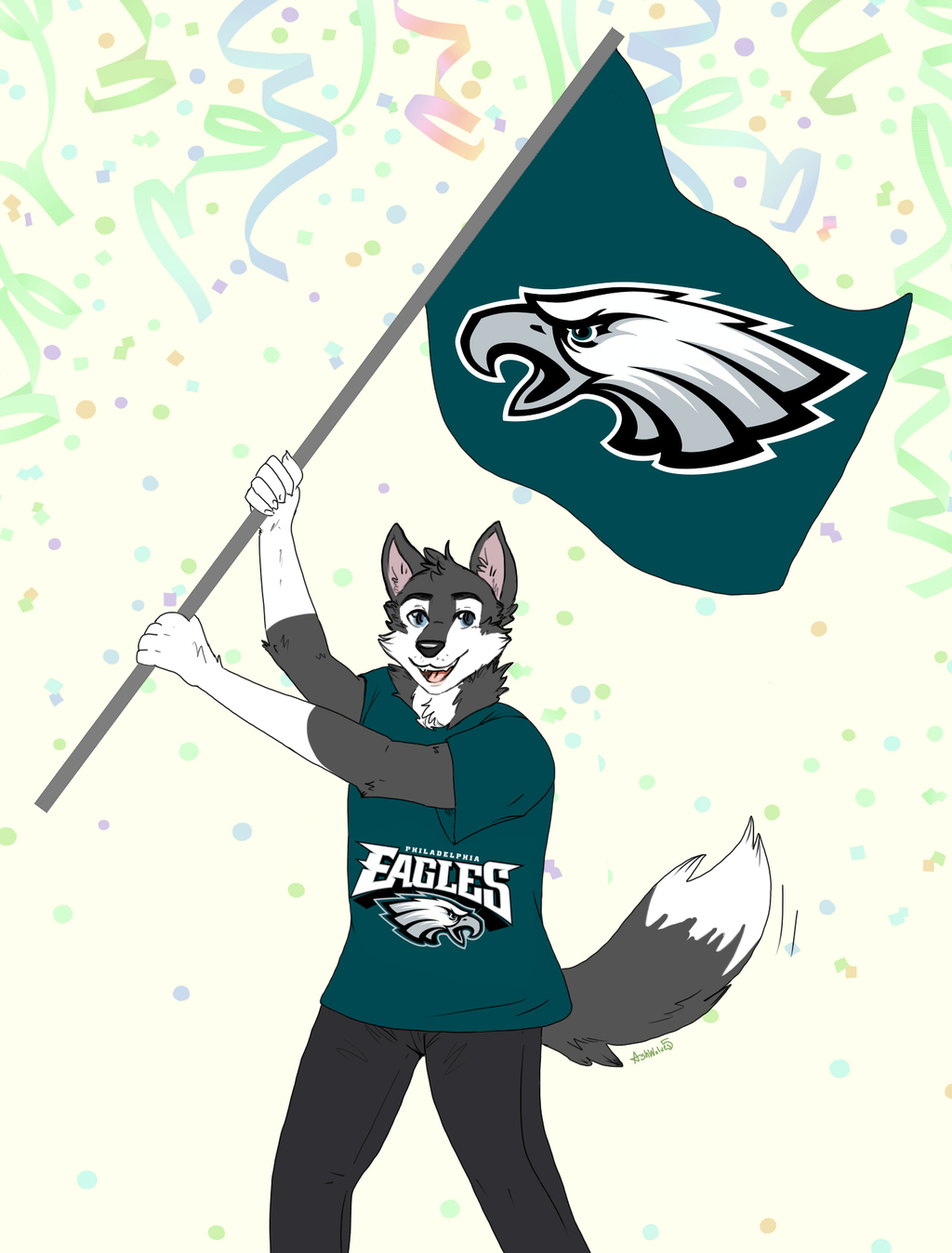 Most recent image: Furrydelphia cheer for the Eagles!