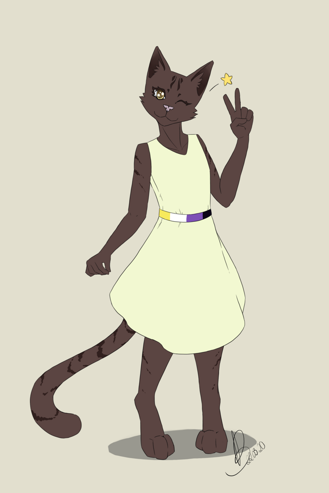 Most recent image: Cat in a dress