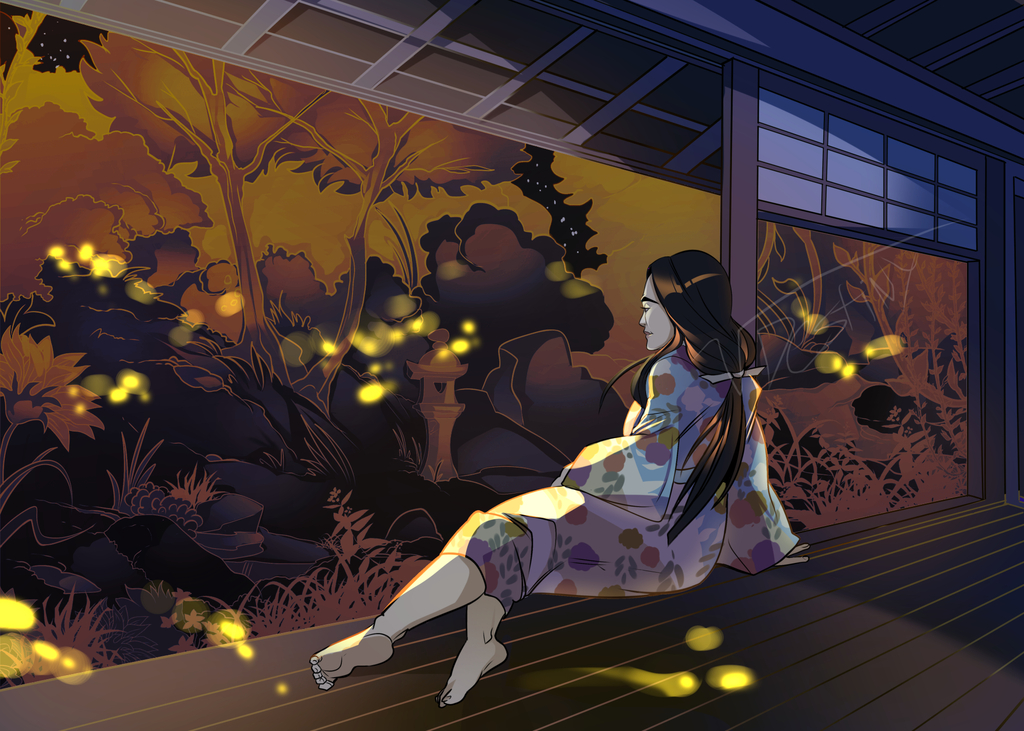 Staring at Fireflies (COMMISSION)