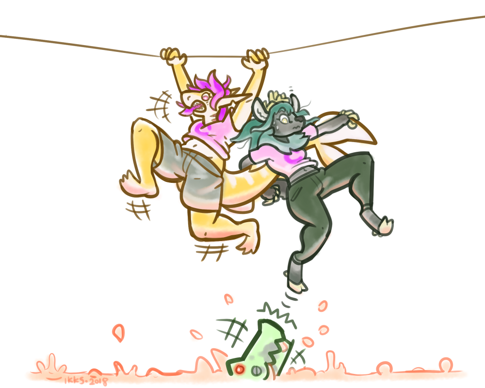 trust drawing exercise team C: the tightrope