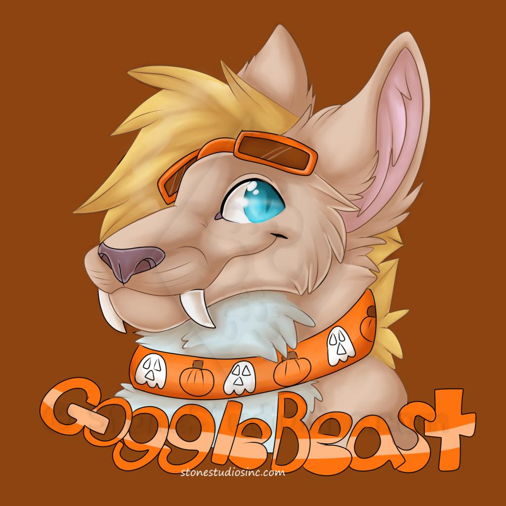 GoggleBeast Halloween Badge