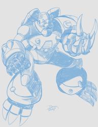 Warmup Sketch - Grizzly Slash