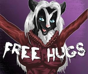 TWILLIGHT MOOD BADGE 9 FREE HUGS