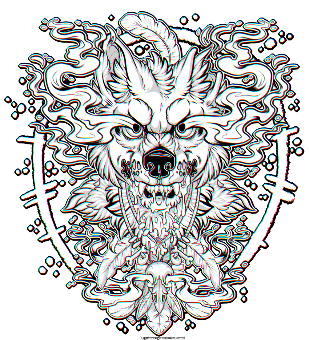 [COMMISSION] Wolf Black&White
