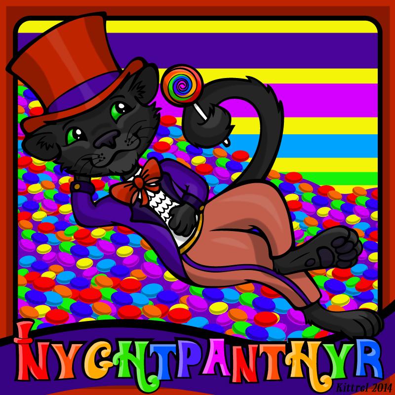 NyghtPanthyr Badge - Sugar Buzz!