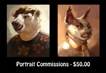 Open for portrait commissions