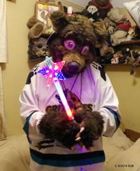 Waldolf and a LED star Wand