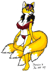 (2009) Sketchbook Commission: Calientra Kitsune