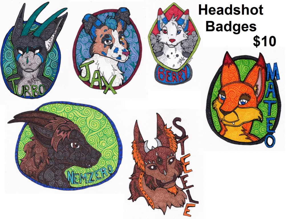 Spiral Style Headshot Badges: $10