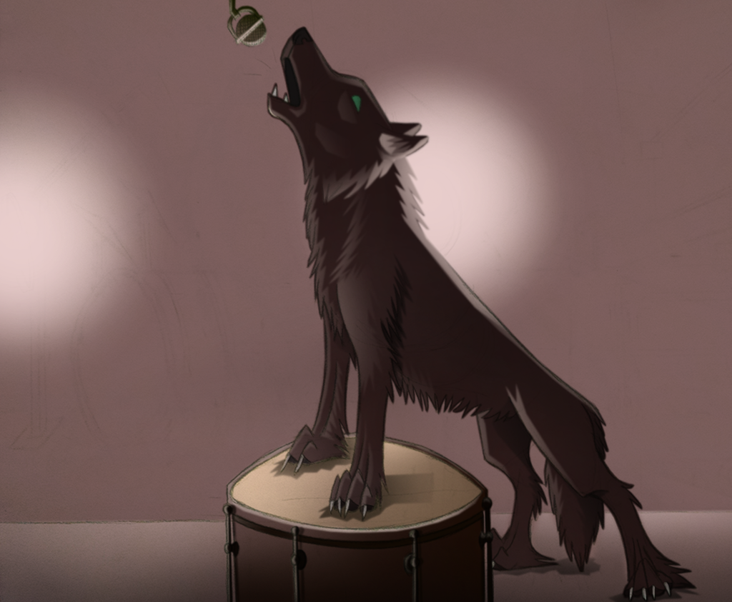 Most recent image: Howling to the Mic