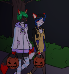FM and Sierra out Trick-or-Treating