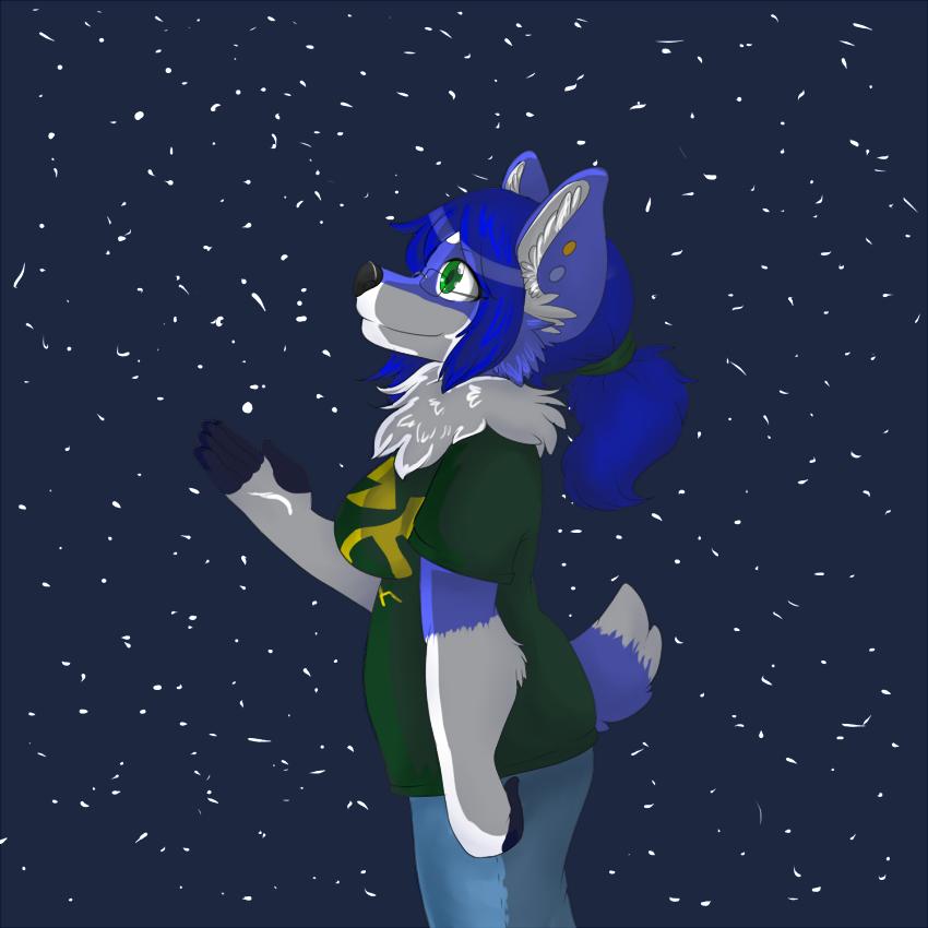 Fuzzy Blue Lights