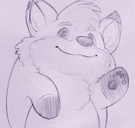 Cute BeanFox waving :3