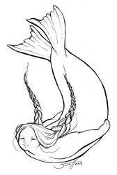Doodle Commission - Inuit Selkie