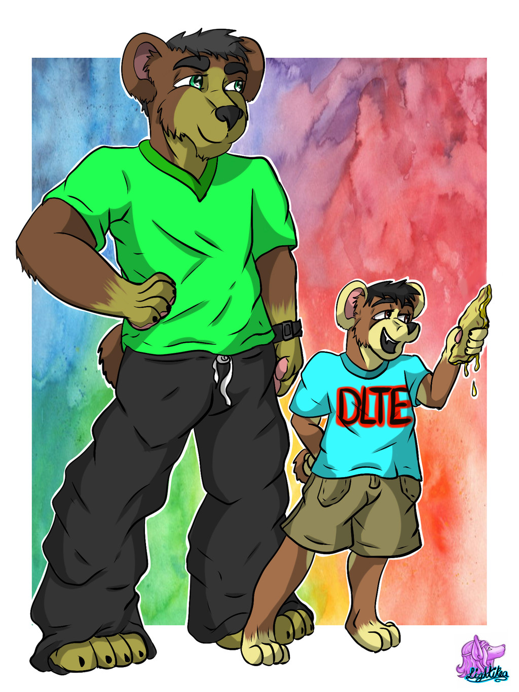 Papa bear and son~Comission