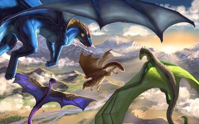 Flight of Dragons by Aaros