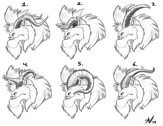 Yeti Hound Horn Designs