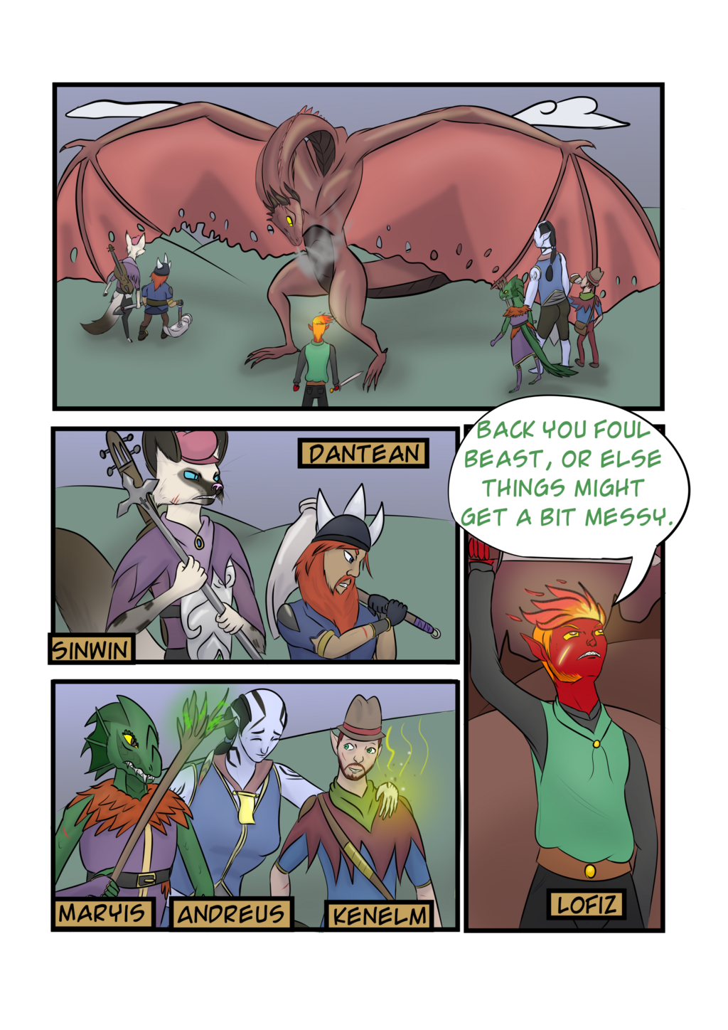 Tales from Quartersfield Keep Chapter 4 Page1