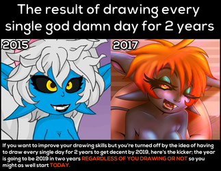 The result of drawing every single god damn day for 2 years