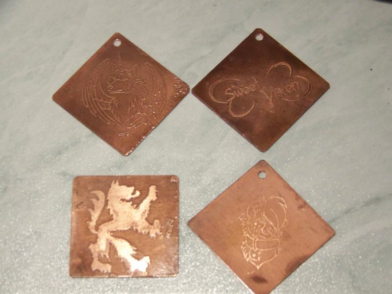 Copper Dog-Tags ; EF 2008