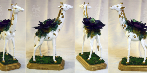 Giraffe Planter Centerpiece