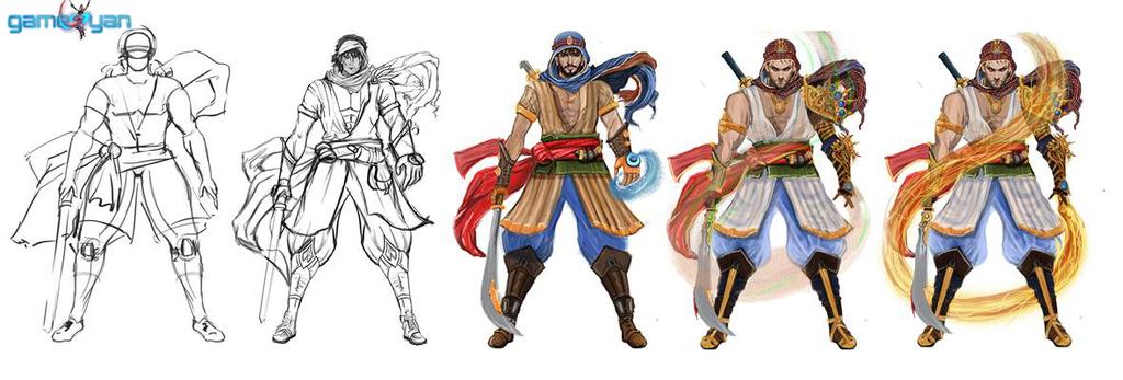 2D Concept Art Male Fantasy Warrior